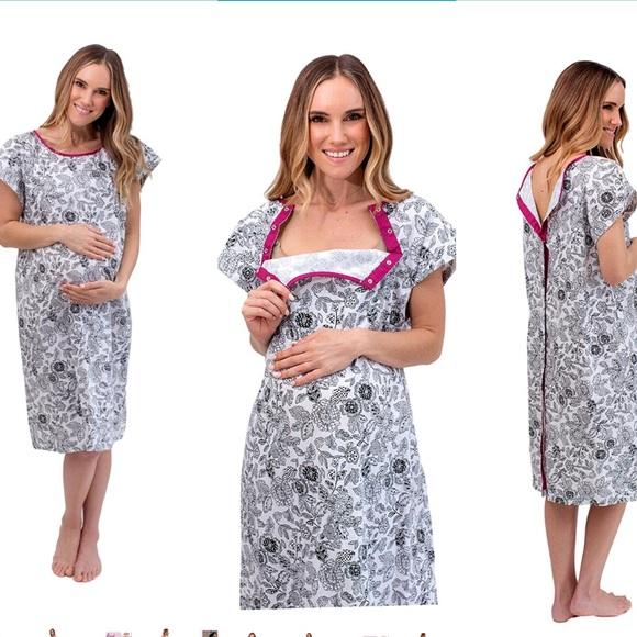 gownies Other   Organic Hospital Nursing Gown Ella   Poshmark
